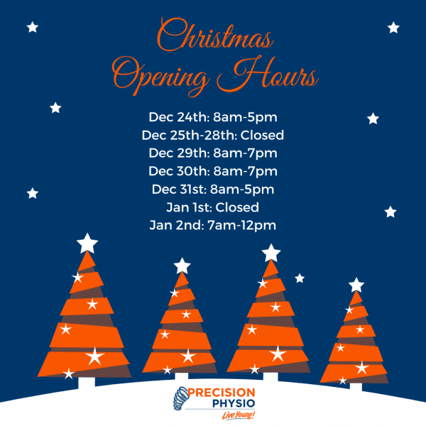 Precision Physio Concord Christmas and New Year Opening Hours